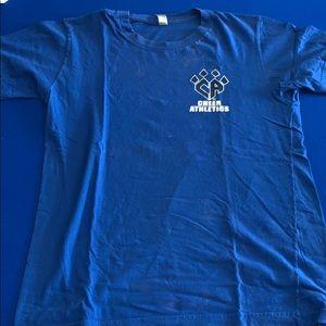 CA blue claw t shirt